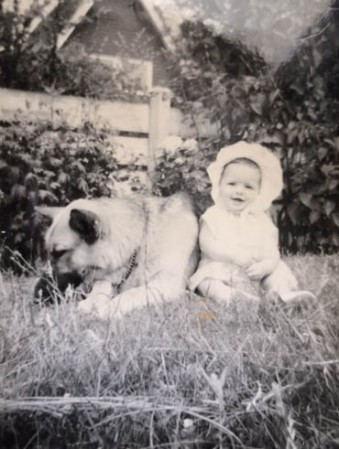 Me and my first dog, Kim